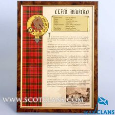 Munro Clan History Print