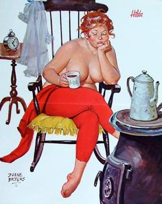 Wall Art Print- Art Reproduction Vintage Sexy Pin-up Girl Vintage Sexy Plus-size Pin-up Girl Duane Bryers Hilda Print 8 x Dita Von Teese, Illustration Arte, Sexy Pin Up Girls, Pin Up Girl Vintage, Modelos Plus Size, Pin Up Art, Full Figured, Big And Beautiful, Beautiful Redhead
