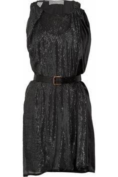 Coil metallic silk dress by Preen