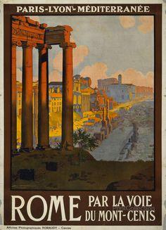 PrintCollection - Rome Par la Voie du Mont-Cenis, the Roman Forum in 1910