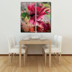 Ready2HangArt 2 Piece 'Painted Petals Lxiv' Canvas Art Set