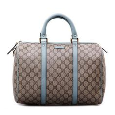 Gucci Boston Bag in Blue Leather Trim