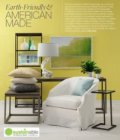 Earth Friendly & American Made Mitchell Gold + Bob Williams Furniture