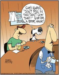 Dogs have it hard | Read The Flying McCoys #comics @ http://www.gocomics.com/theflyingmccoys/2015/07/01?utm_source=pinterest&utm_medium=socialmarketing&utm_campaign=social | #GoComics #webcomic #dogs