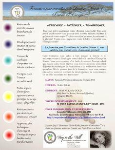 A Light Worker's Diary: Formation pour Travailleurs de Lumière! 29-30 mars 2014, Hôtel ALT, Brossard (Qc)