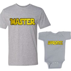 Master - Apprentice Heather Shirts Daddy and Me Shirt Set by bodysuitsbynany on Etsy