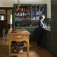 Alice Waters in her home kitchen