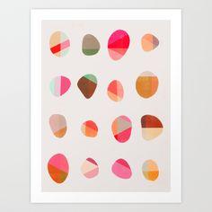 Painted Pebbles 5 Art Print by Garima Dhawan | Society6