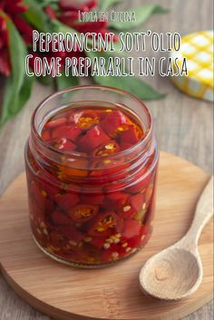 Italian Cooking, Raw Food Recipes, Biscotti, Pickles, Spicy, Good Food, Lunch Box, Food And Drink, Homemade