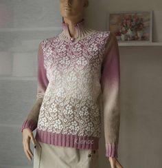 Crochet Tunic, Crochet Clothes, Fair Isle Pattern, Fair Isle Knitting, Wool Cardigan, Knitwear, Knitting Patterns, Sweaters, Vintage
