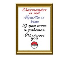 Pokemon Love Poem Cross Stitch Pattern PDF