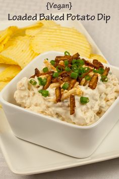 Want to show potatoes that you care? Dip your favorite chips into this Vegan Loaded Baked Potato Dip for twice the tater.