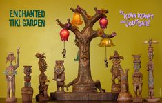 Walt Disney's Enchanted Tiki Room Tiki Figurine Sets #1 and #2 (and the Tangaroa Lamp) Replica Figurines by Kevin Kidney & Jody Daily  Released in 2005 and 2008  This is the complete 2-part series released in 2005 and 2008.  Resin and Metal.   Edition Size: 1000    © Disney