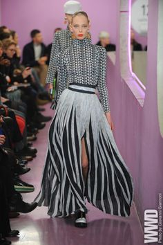 Kenzo at Paris Fashion Week Fall 2012  I love mismatched patterns together.
