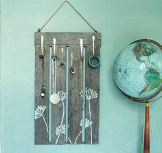 Nature Inspired Jewelry Organizer - Reclaimed Wood - Wall Decor - Stylish Storage. $42.00, via Etsy.