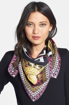 Free shipping and returns on Versace Silk Foulard Scarf at Nordstrom.com. Lavish patterns lend signature glamour to an Italian-crafted silk scarf.