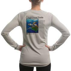 $35.00 cool Altered Latitudes Women's Loggerhead Turtle UPF Long Sleeve T-Shirt