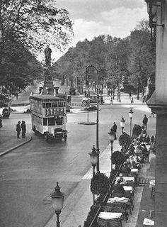 Berlin 1930er am Kemperplatz (Omnibus Linie 2 Alexanderplatz,Brandenburger Tor,Kemperplatz,Potsdamerstrasse,Wittenbergplatz,Grunewald-Bismarckplatz)