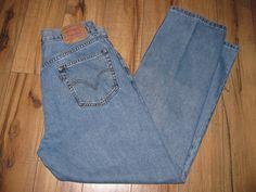 Levis 505 Mens Levi Blue Jeans 34 X 32 Classic Straight Fit   #Levis #StraightFit