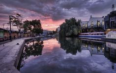 Camden Town's Regent's Canal at Sunrise