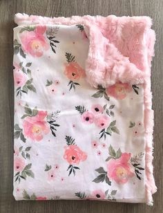 Pink Baby Blanket, Baby Girl Blankets, Minky Blanket, Baby Shower Gifts, Baby Gifts, Baby Girl Items, Baby Necessities, Wishes For Baby, Baby Time