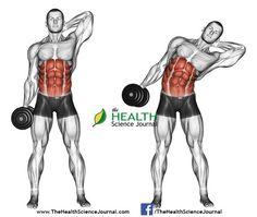 © Sasham | Dreamstime.com - Exercising for bodybuilding. Side slopes of standing