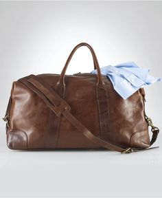 Polo Ralph Lauren Bag, Core Leather Duffle Bag - Shop All Polo Ralph Lauren - Men - Macys