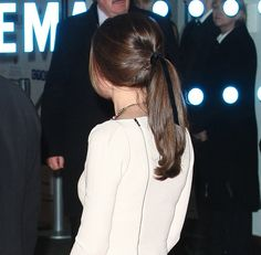Kate Middleton in a ponytail