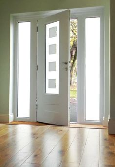 Rockdoor Vogue cube misted glass with side lights in white