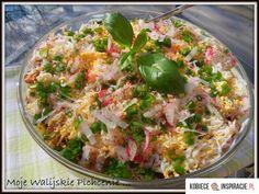 Warstwowa sałatka z kurczakiem http://kobieceinspiracje.pl/15640,warstwowa-salatka-z-kurczakiem.html