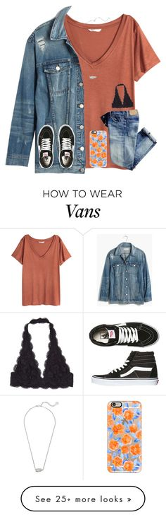 """my 2016 Fav Trends were: bralettes and Denim Jackets :) + more in description"" by kari-luvs-u-2 on Polyvore featuring H&M, Madewell, Vans, Kendra Scott, Casetify and karysfaves"