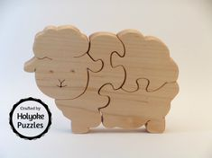 A perfect first jigsaw puzzle for the littlest ones. The pieces are too large to be swallowed, but are sanded smooth in case your munchkin still likes to stick things in his or her mouth. This handmade jigsaw puzzle is cut from hardwood with a non-toxic mineral oil finish and measures 6 x 4 x ¾ inches (15.2 x 10 x 1.9 cm). An attractive canvas storage bag is included with your puzzle.  Closely supervise children playing with puzzle pieces and do not allow the child to use it if any pieces…