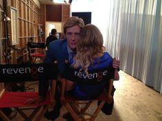 Revenge's Gabriel Mann Tweets Adorable Photos With Emily VanCamp On Set! - Revenge