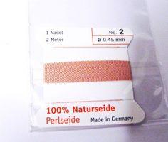 Edelsteine-Welt - Perlseide, Naturseide 0,45 Hellrosa