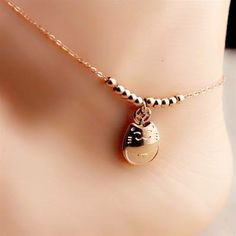 jewel, jewelry, anklet, pretty, delicate, beautiful, wow, lovely, rose gold, hello kitty
