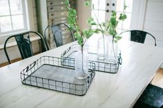 These rustic, beautiful serving trays will look great on any coffee table.   ($42, magnoliahomes.net)