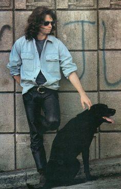 Jim Morrison, and friend