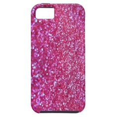 Pink glitter iPhone 5 cover
