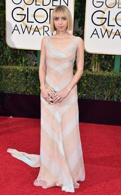 Zoe Kazan/ 2016 Golden Globes...Wait this could be beautiful. Try different fabric combination to fit your wedding theme with 'simple' embellishments.