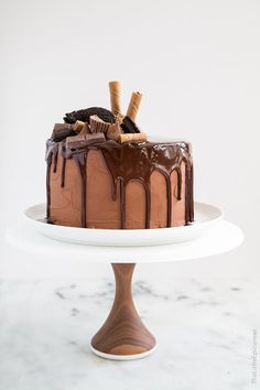 The ultimate chocolate lover's cake. For Halloween, it's called Death by Chocolate Cake! Chocolate Cake Frosting, Death By Chocolate Cake, Chocolate Day, Decadent Chocolate, Chocolate Desserts, Melted Chocolate, Chocolate Ganache, Best Simple Chocolate Cake, Ultimate Chocolate Cake