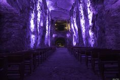The Salt Cathedral of Zipaquirá is an underground Roman Catholic church built within the tunnels of a salt mine 200 meters underground in a Halite mountain near the town of Zipaquirá, in Cundinamarca, Colombia. (Source: HP These Mysterious Cave Churches And Monasteries Totally Rock http://www.huffingtonpost.com/2014/05/11/cave-churches_n_5283392.html?&ncid=tweetlnkushpmg00000067)
