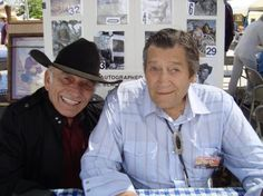 Two good old boys...James Drury and Clint Walker in Western Legends, Kanab, UT August 2010