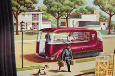 """Seagram's ad with future delivery predictions """"By Men Who Plan Beyond Tomorrow"""", 1947"""
