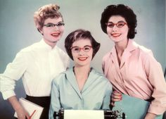 3/4 sleeved blouses were IN! Glasses had style.