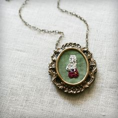 @with Whimsy @amanda These necklaces are so adorable!  Embroidered animals, flowers, symbols... So CREATIVE!