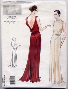 Vogue 2241 Vintage Model 1930's Art Deco by PrettyPatternShop
