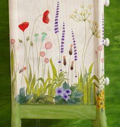 Bureau jardin silvestre - Muebles pintados a mano - L'atelier du Papillon                                                                                                                                                                                 Más