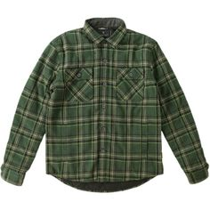 Roark Revival Jamie Thomas Chief Flannel Shirt Jacket ($82) ❤ liked on Polyvore featuring men's fashion, men's clothing, men's outerwear, men's jackets, mens flannel jacket, tall mens jackets, mens plaid jacket and mens jackets