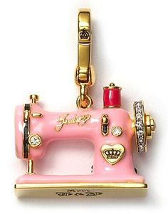 juicy couture sewing machine charm