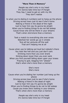 Garth Brooks -More Than a Memory Yea big shocker I like country also